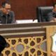 Ketua DPRD Lamongan sementara, H Abdhul Ghofur saat rapat paripurna di gedung dewan