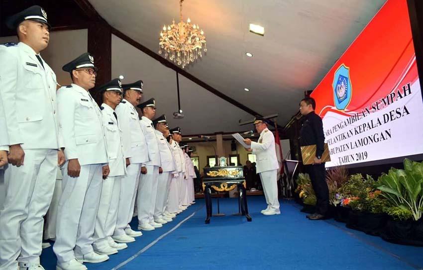369 Kades di Lamongan Dilantik, Fadeli Ingatkan Kades Terpilih Rangkul Rival dan Jalankan Janji Kampanye