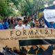 Ratusan Aktivis Gabungan Formal di Lamongan Gelar Aksi Tolak Wacana Kepulangan Kombatan ISIS