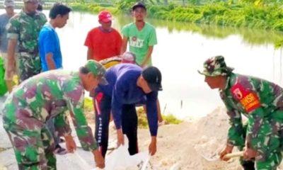 Dandim 0812 Apresiasi Sinergitas Pembangunan Di Desa Antara Masyarakat Dengan TNI