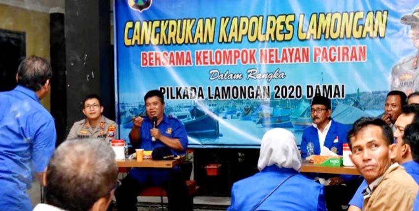 Kapolres Lamongan Ajak Cangkrukan Nelayan Pantura di Rumah Dinas, Ketua HNSI Beri Apresiasi