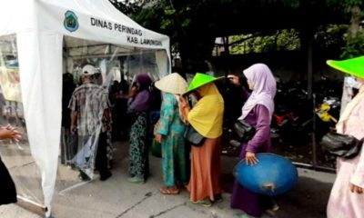 Perumda Pasar Lamongan Siapkan Sembilan Bilik Penyemprotan Disinfektan di Sejumlah Pasar