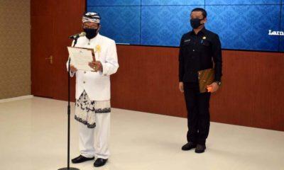 Kantongi Izin Kemendagri, Bupati Fadeli Lantik 4 Pejabat Administrator Pemkab