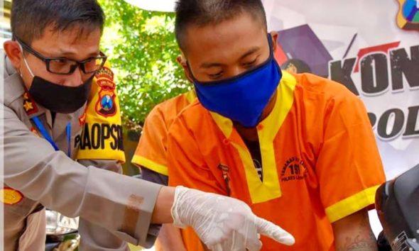 Polres Lamongan Ungkap Kasus Curanmor di 40 TKP Dan Tahan Dua Tersangka